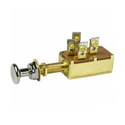 Interruptor 3 posiciones 2 circuitos 20a ¢9.5x30mm l cromado plata