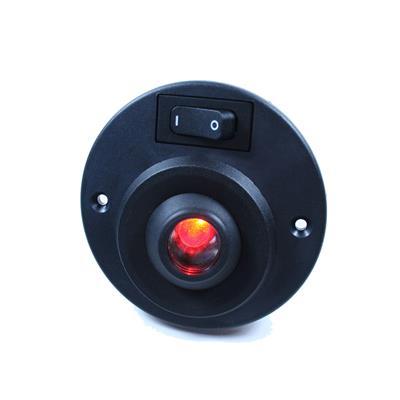 Spot ¢ 100mm con interruptor aluminio negro oreintable
