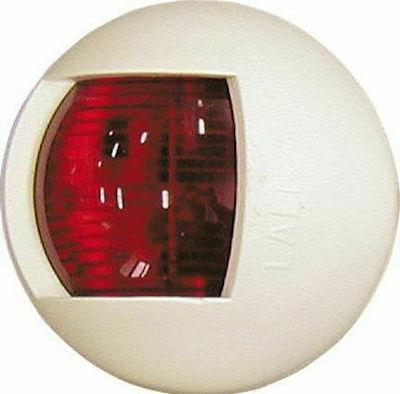 Luz De Banda D 65mm Roja Carcasa Blanca