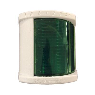 Luz De Banda 105x100mm Verde Carcasa Blanca
