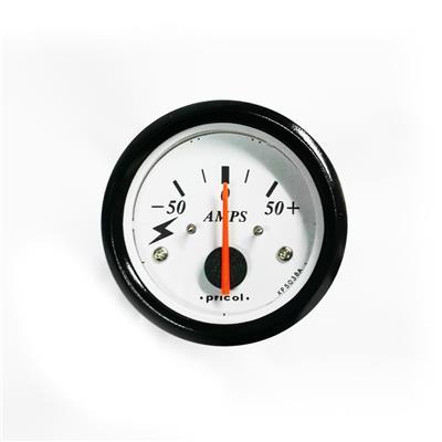 Amperímetro Analógico 50 Amperes Aro Negro Pricol