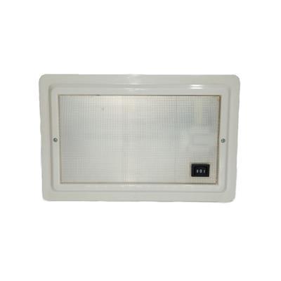 Plafón embutir dulux 9w 105x200mm con luz de cortesia