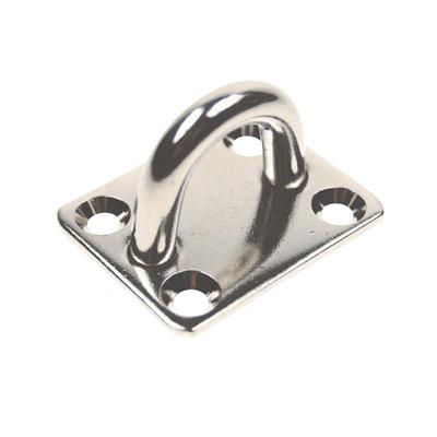 Punto fijo de acero inoxidable Perno de 8mm - Base de 40x50mm