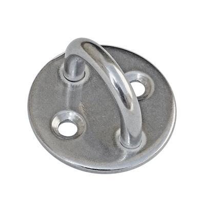 Punto fijo de acero inoxidable Perno de 8mm - Base redonda 50 mm