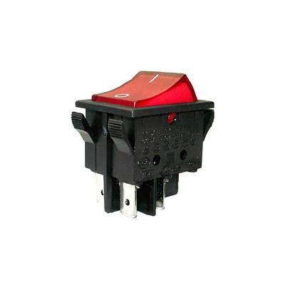 Interruptor 25x10mm 15a luz roja