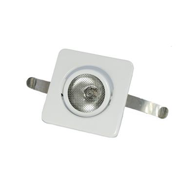 Plafón 88x88mm embutir orientable 10w