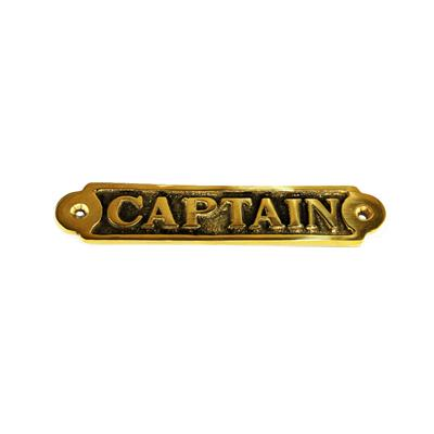 Cartel Bronce Capitan 31x155 mm