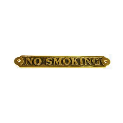 Cartel Bronce No Smoking 32x220 mm