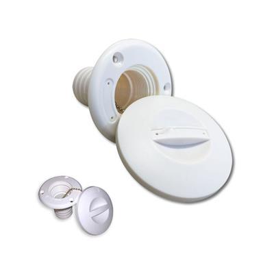 Tapa Tanque Gas 38 mm Abs Blanca Agua/Gas/Diesel/Waster