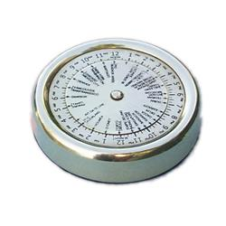 Pisapapel calculo de diferencia hora de bronce ¢55mm en caja de mader