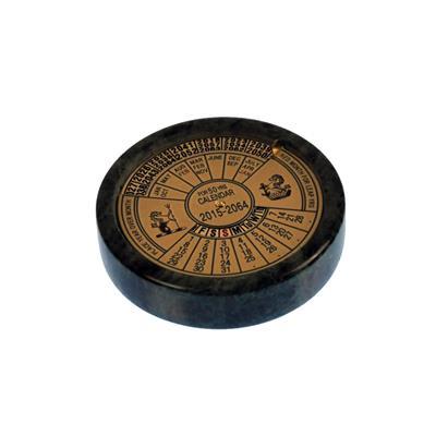 Pisapel calendario de bronce ¢ 75 con de base de onix