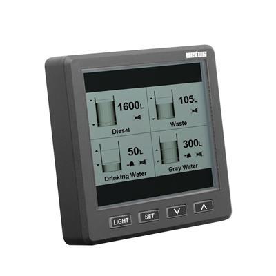 indicador de nivel de líquidos ultrasonico hasta 8 tanques