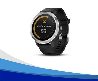 Reloj  vívoactive® 3 acero con malla negra