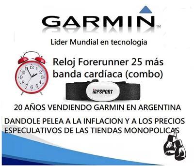 Reloj Forerunner  25 Azul Gps Con Banda Cardiaca