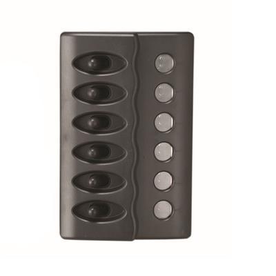 TABLERO WATERPROOF CON LED 6 PUNTOS NEGRO