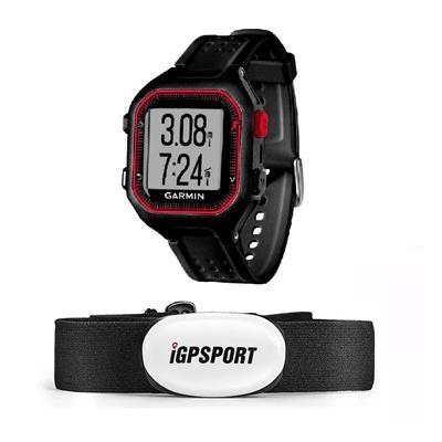 Reloj Forerunner  25 Negro Gps Con Banda Cardiaca Igs 16668 + 23007