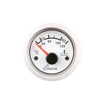 Indicador de temperatura de agua aro inoxidable opción blanco o negro wema 25-120c