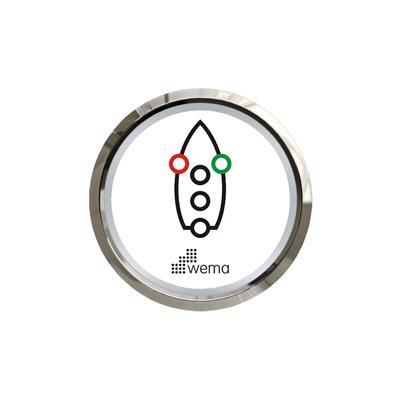 Tablero para control luces de navegación aro cromado blanco o negro