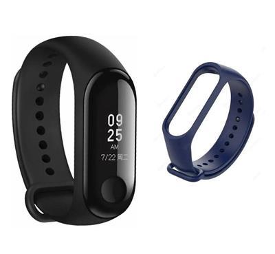 Reloj Mi Band 3 Global Negro + Malla Azul Xiaomi