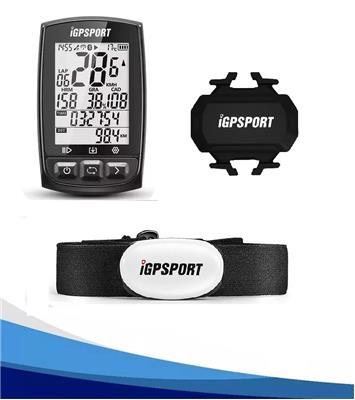Ciclocomputador Igpsort Igs50E +  Banda Cardiaca de Pecho + Cadencia