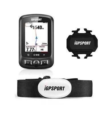 Ciclocomputador Igpsort 618 + Banda Cardíaca + Sensor de Velocidad