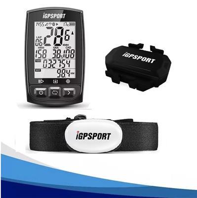 Ciclocomputador Igpsort Igs50E + Banda Cardiaca de Pecho + Velocidad