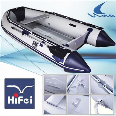 Bote Inflable Piso de Aluminio 3.80 Metros Hifei**
