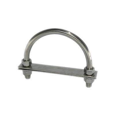 Cáncamo de acero inoxidable 2 Pernos con tope  (Diámetro 10 x 90 mm)