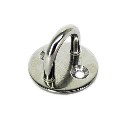 Punto fijo de acero inoxidable Perno de 6mm - Base redonda 40 mm