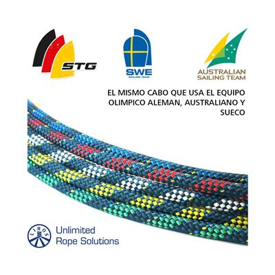 Cabo regatta 2000 6mm fluo dyneema 100% driza liros