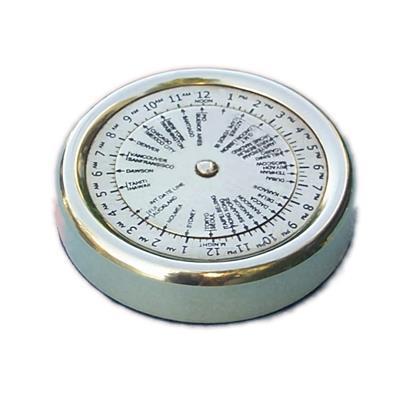 Pisa papel calculo de diferencia horaria de bronce D 55 mm